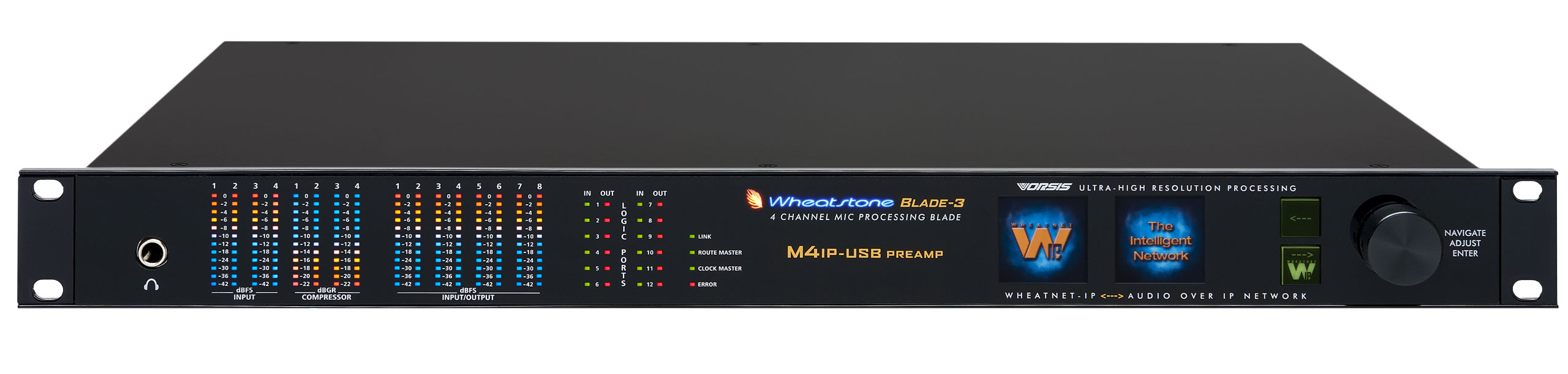 M4-IP USB 4-CHANNEL VOICE/MIC AUDIO PROCESSOR